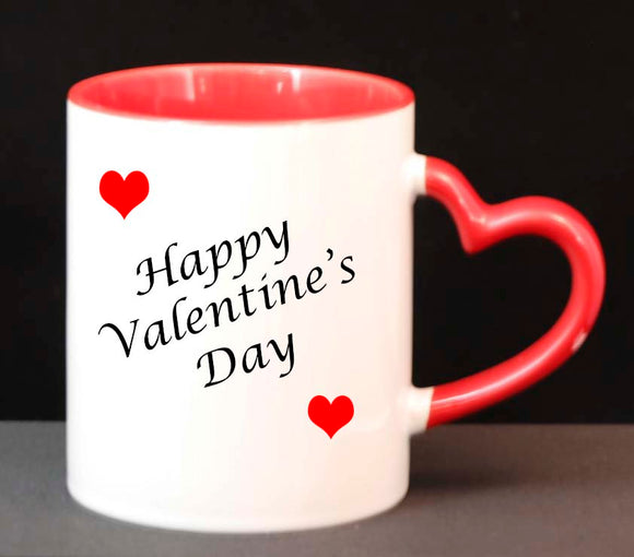 Heart Handled 11 oz Ceramic Mug, Sublimatable - Lucky Dog Custom Creations