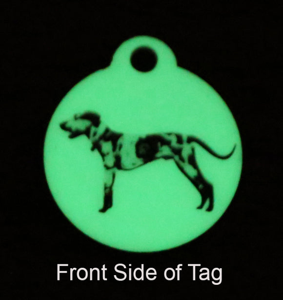 Glow in the Dark Pet ID Tag - Lucky Dog Custom Creations