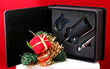 Leatherette 3-Piece Wine Tool Gift Set, Laser Engravable - Lucky Dog Custom Creations