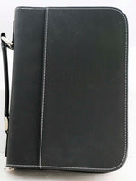 Leatherette Book/Bible Cover with Handle & Zipper - Lucky Dog Custom Creations