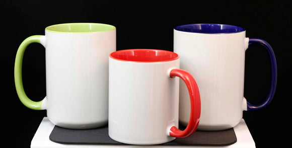 Inner Color Mugs, 11 and 15 Ounce - Lucky Dog Custom Creations