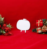 Unisub White Aluminum Pumpkin Ornament - Lucky Dog Custom Creations