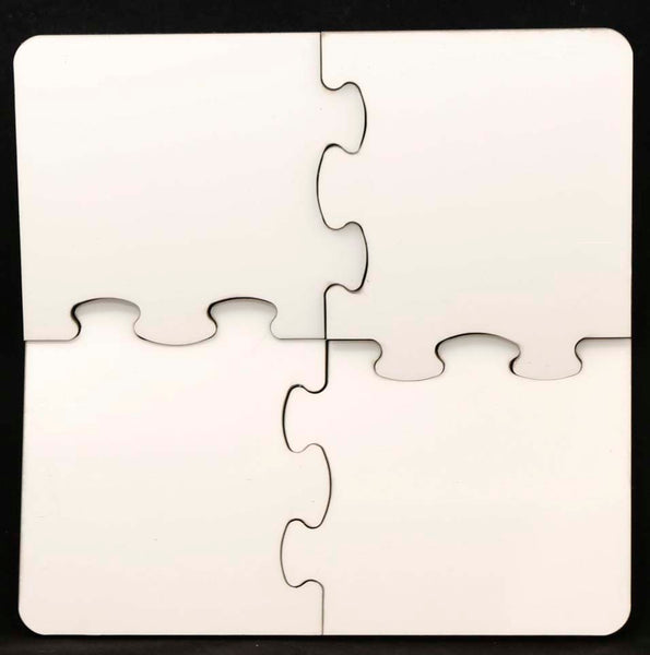 "Square Cork Back Coaster Puzzle, 7.625"" Sublimatable Hardboard - Lucky Dog Custom Creations"
