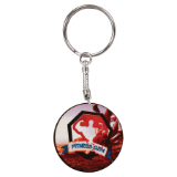 "1 1/2"" White Round Sublimatable Keychain with Black Edge - Lucky Dog Custom Creations"