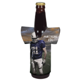 White Sublimatable Jersey Bottle Beverage Holder - Lucky Dog Custom Creations
