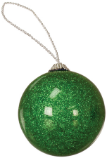 "2"" Insert Holder Green Glitter Ornament - Lucky Dog Custom Creations"