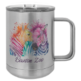 Sublimatable Polar Camel 15oz Insulated Coffee Mug with Handle and Slider Lid - Lucky Dog Custom Creations