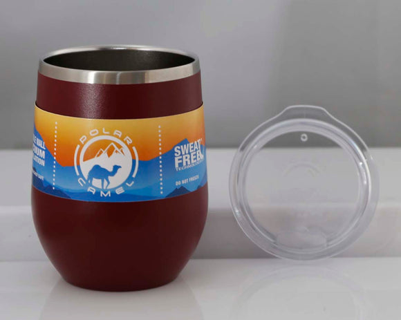 Polar Camel 12 oz. Vacuum Insulated Stemless Wine Glass w/Lid - Lucky Dog Custom Creations