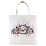 "White 14 3/4"" x 11 3/4"" Tote Bag - Lucky Dog Custom Creations"