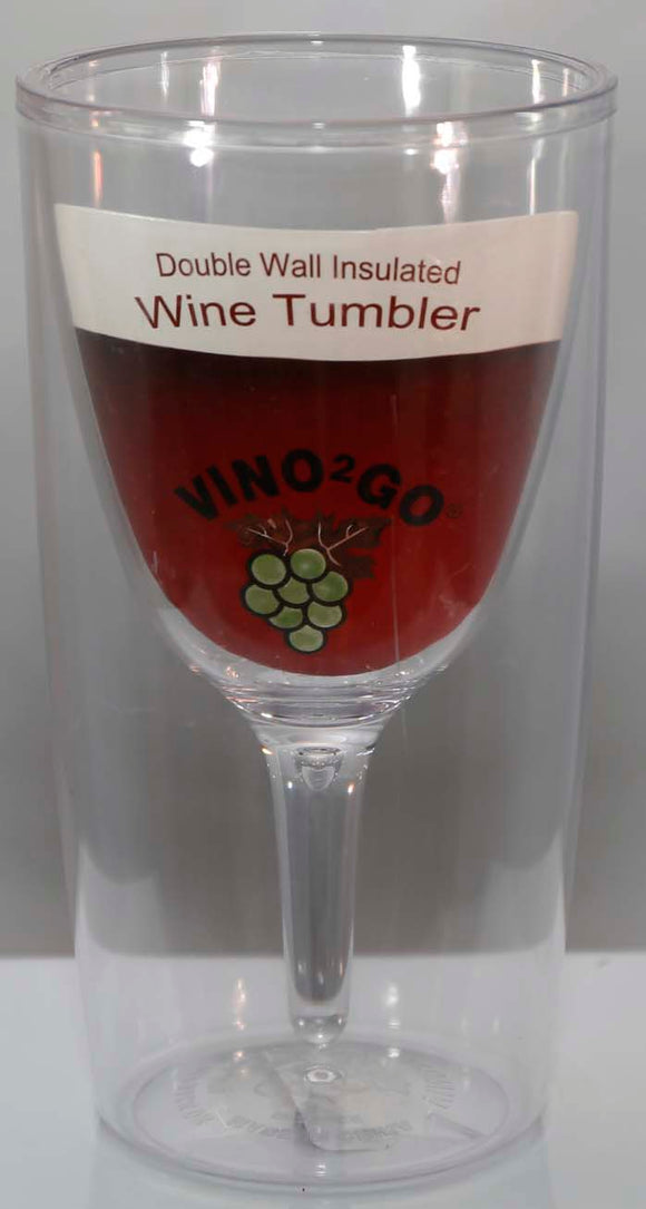 Vino2Go Clear 9oz Plastic Wine Tumbler - Lucky Dog Custom Creations
