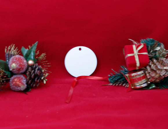 UNISUB Natural Wood Circle Ornament - Lucky Dog Custom Creations