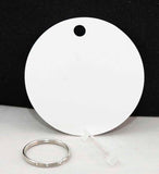 "2"" Unisub Gloss White 2-Sided Aluminum Circle Key Chain - Lucky Dog Custom Creations"