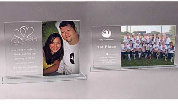 Glass Photo Stand - Lucky Dog Custom Creations