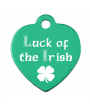 Laserable Anodized Mini Heart Tag - Lucky Dog Custom Creations