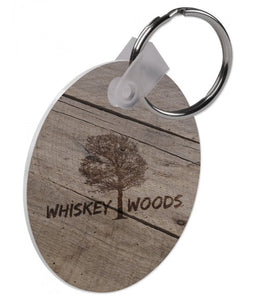 "2-Sided Key Chain, Gloss White 2 1/2"" FRP Round, Father's day, fathers day - Lucky Dog Custom Creations"