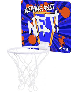 "7 1/2"" x 9"" Mini Basketball Hoop, Sublimatable - Lucky Dog Custom Creations"