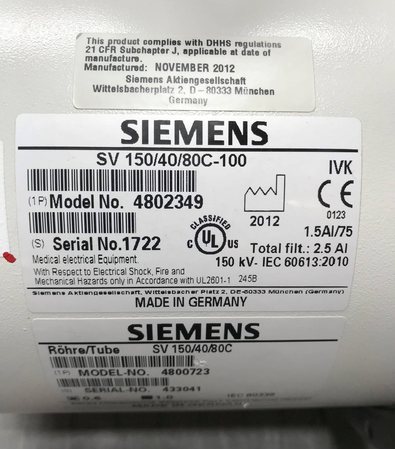 X-Ray Tube (4802349) Siemens