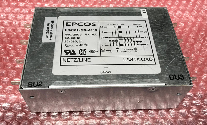 Power Line Filter Epcos (B84131-M3-A116) Philips Easy Diagnost