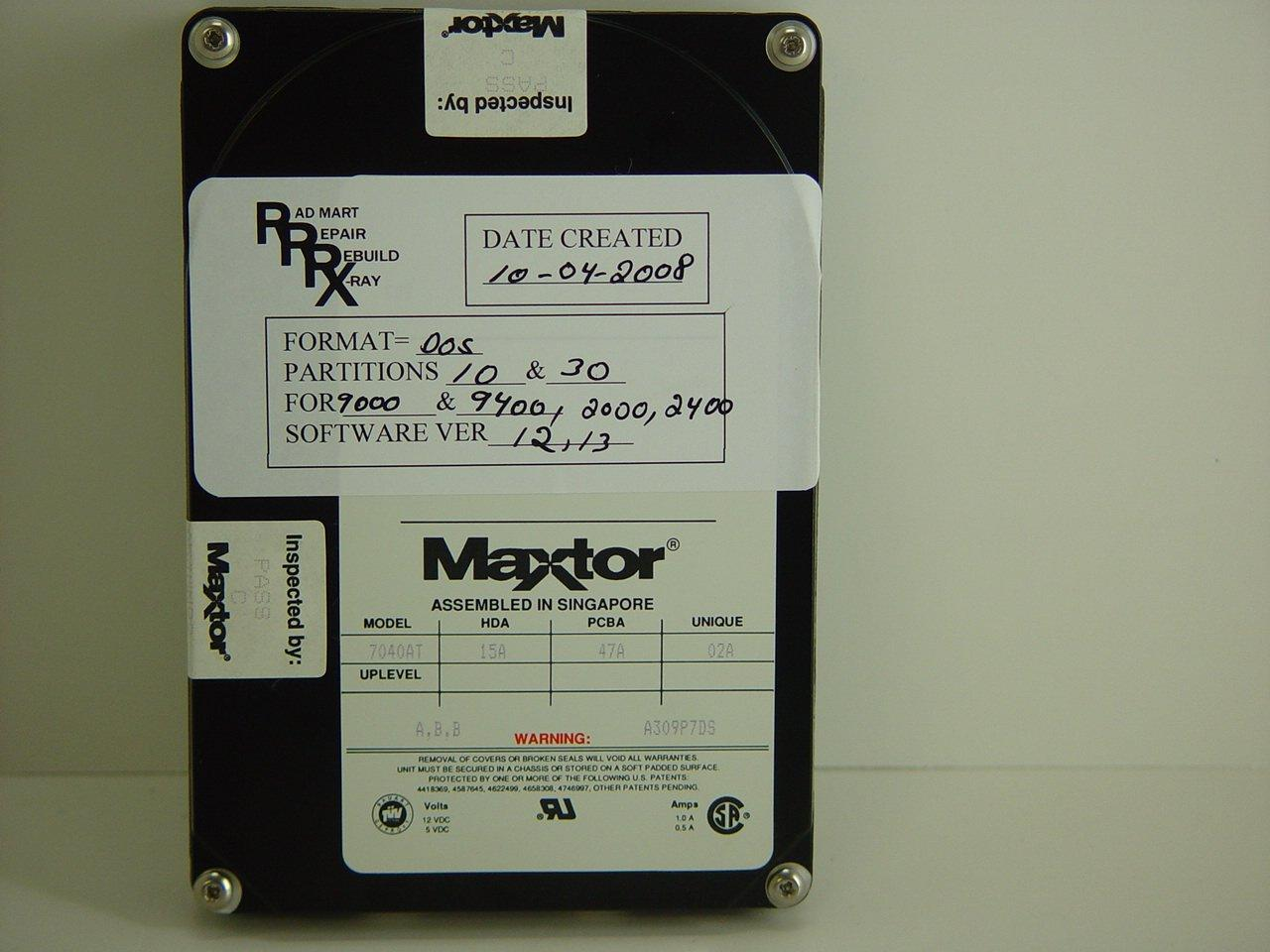 Hard Drives - OEC-9400 HARD DRIVE 9400 WITH SOFTWARE LOADED (00-877024-02) (00-877024-03)