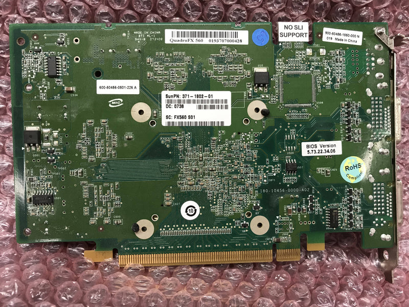Nvidia QuadroFX560 Video Card (371-1802-01) Sun