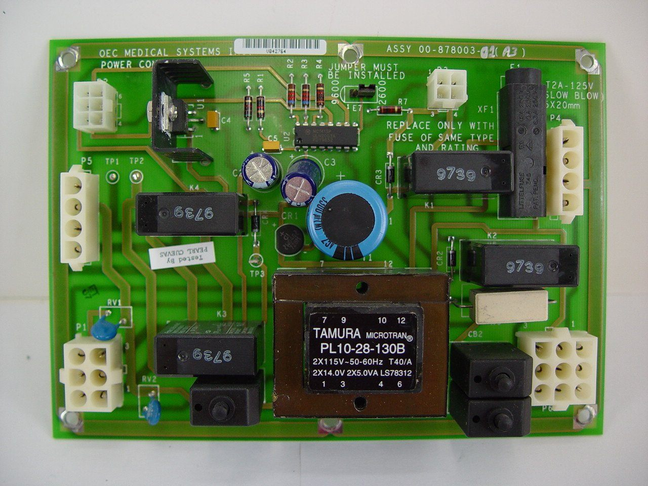 PCB Boards - OEC-9600 POWER CONTROL PCB (00-878003-01)