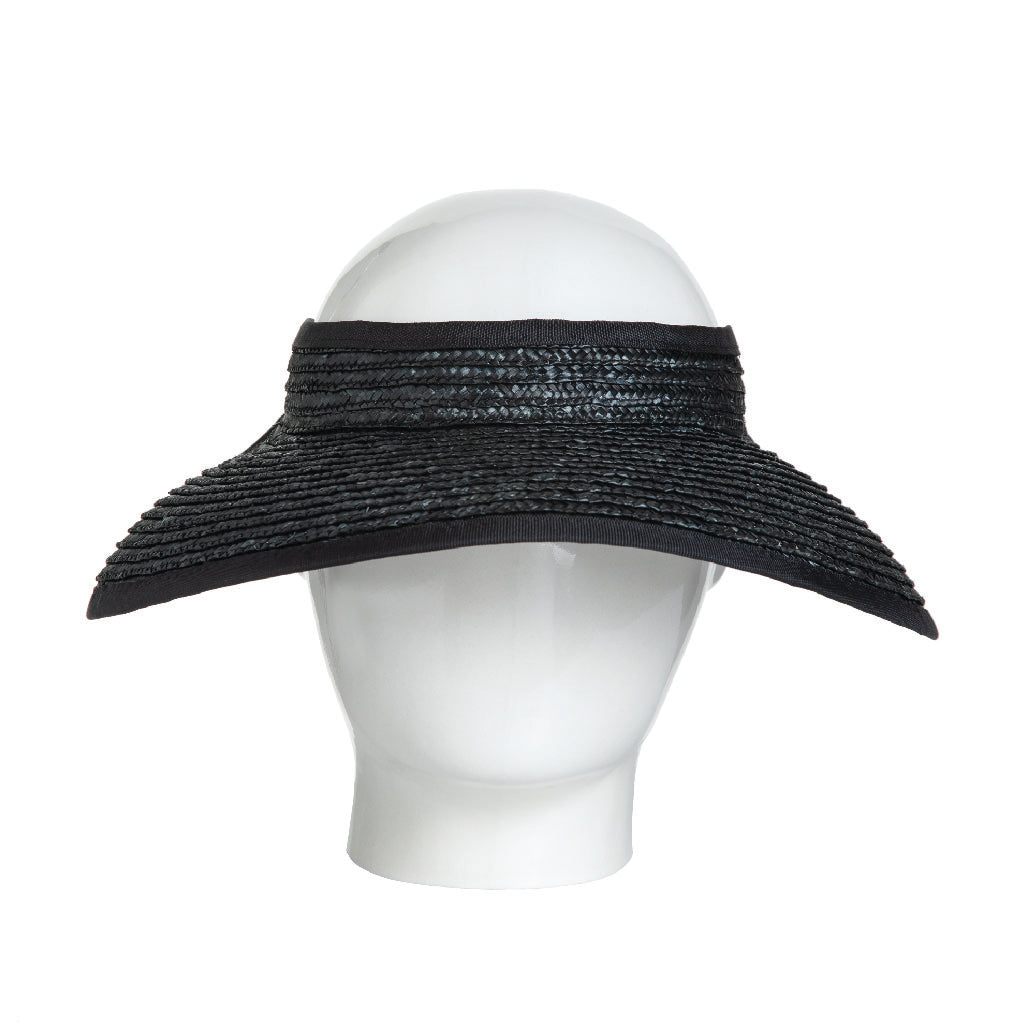 Black Straw Visor