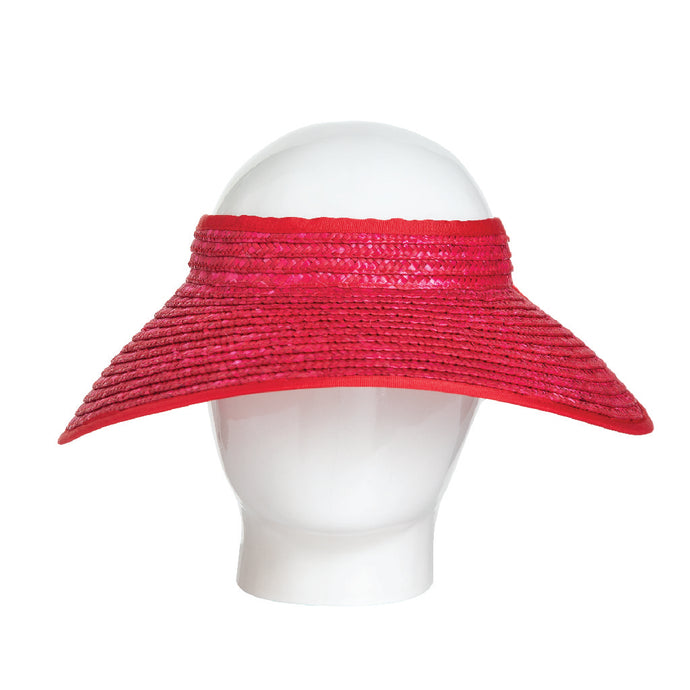 Lola- Red Straw Visor