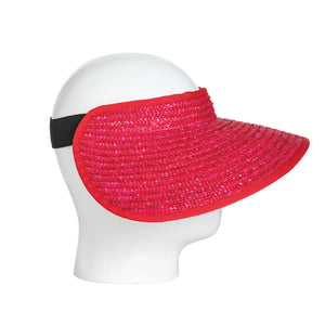 Red Straw Visor