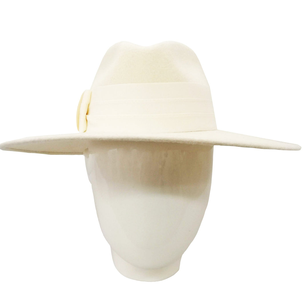 The Lauren- White Felt Fedora
