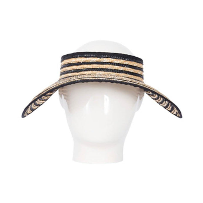 Lola- Striped Straw Visor