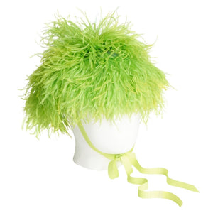 Sway- Ostrich Feather Poof, Lime