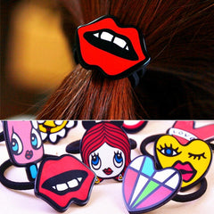Package of Cartoon Hair ring (5 pieces)