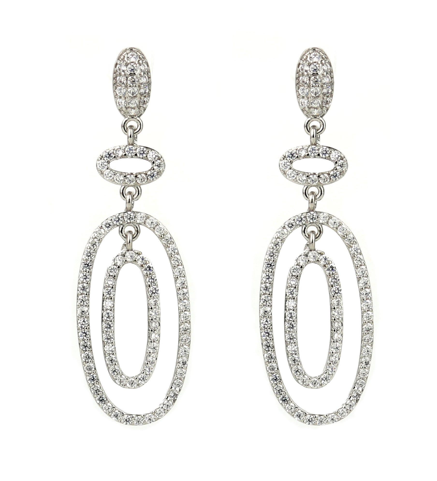 silver, crystal, shiny, statement, rhinestone, embellished, pave, trendy, chic, earrings