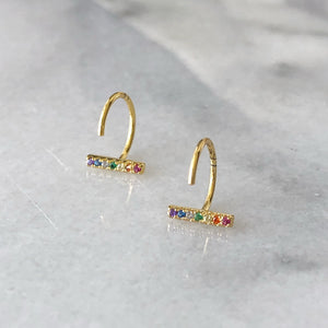 rainbow jewelry, statement earrings, silver, gold, hoops, drop earrings, necklace, jewelry, blogger, influence, accessories, dainty