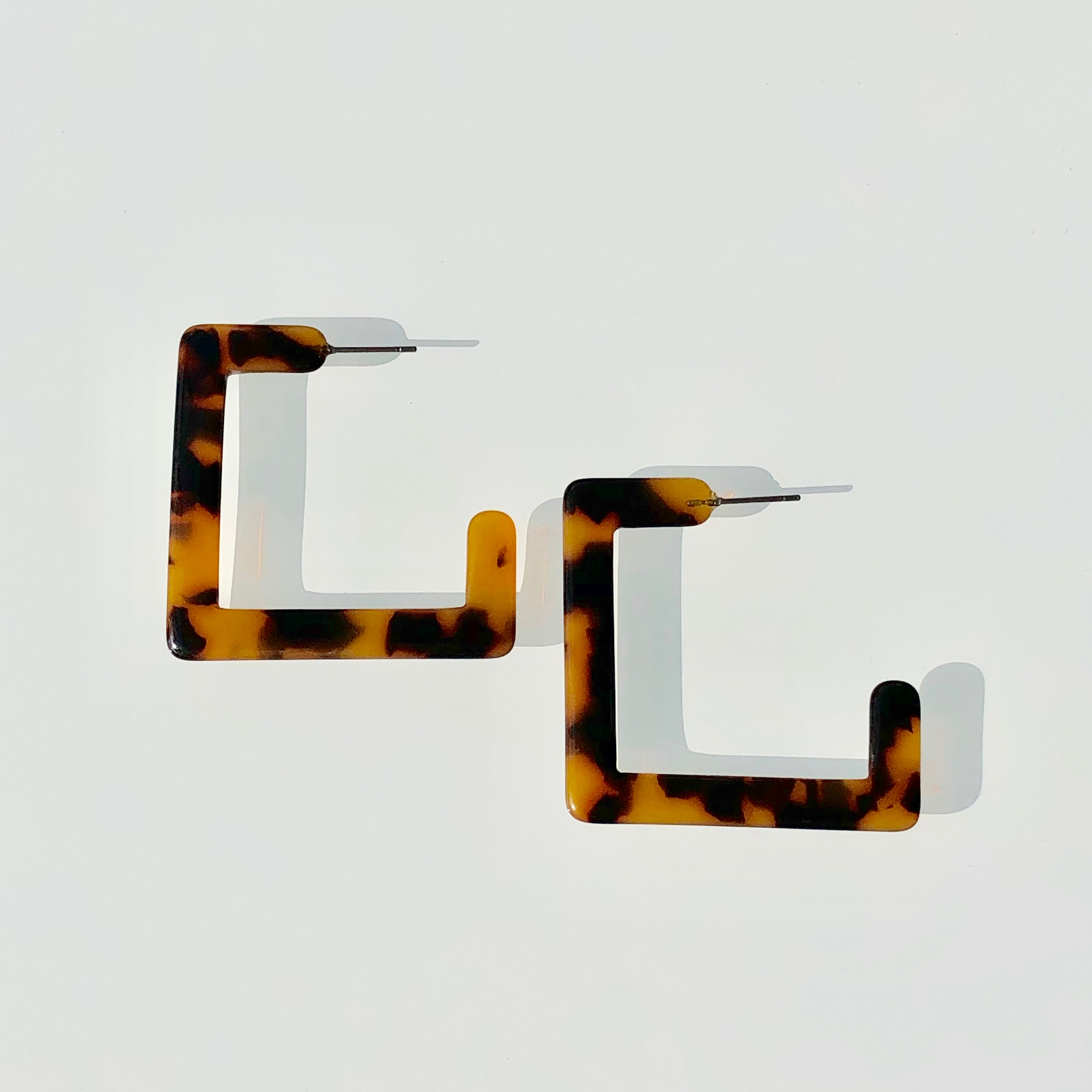 colorful, statement earrings, hoops, drop earrings, necklace, jewelry, blogger, influence, accessories, tortoise shell, acrylic hoops, square hoops, trendy, stylish, minimal