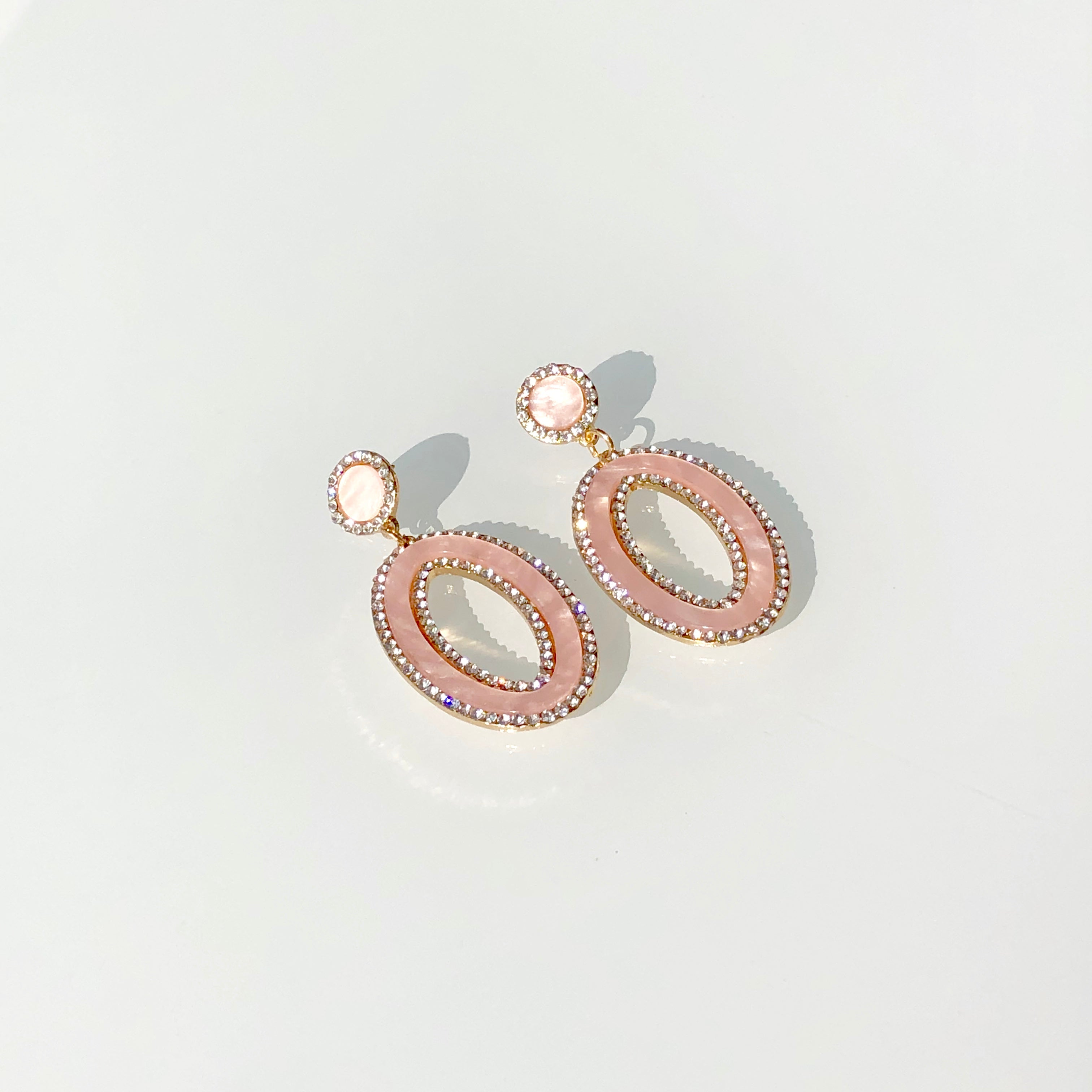 pink, colorful, marble, acrylic, pave, large, statement, organic, stylish, chic, earrings, trendy, influencer