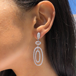 crystal earrings, statement earrings, sparkle, bridesmaid earrings, jewelry, saint Lola, style, blogger, influencer