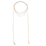 gold, minimal, leaf, necklace, wrap, prelayer, charm, dainty, chic, trendy