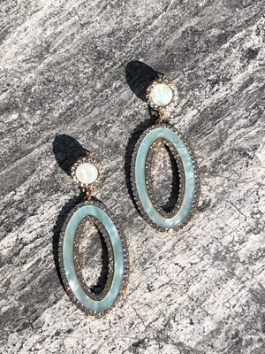 blue, colorful, marble, acrylic, pave, large, statement, organic, stylish, chic, earrings, trendy, influencer