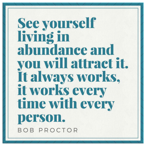 Bob Proctor Blue Motivational Quote on Canvas