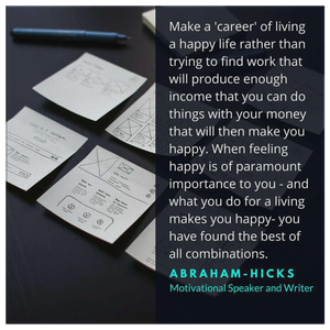 Abraham-Hicks Career Motivational Quote on Canvas