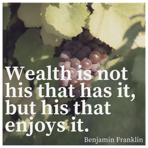 Benjamin Franklin Wealth Motivational Quote on Canvas