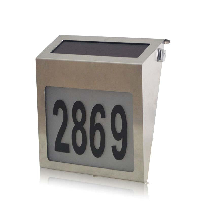 WaterProof Stainless Solar Powered 3LED Illumination House Number
