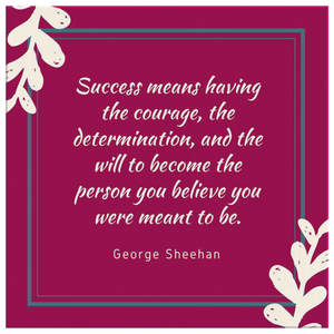 George Sheehan Purple Motivational Quote on Canvas