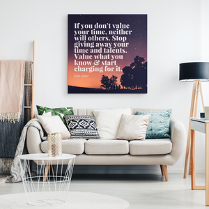 Kim Garst Sunset Motivational Quote on Canvas