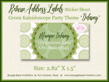 Load image into Gallery viewer, St. Patrick's Day Party Invitation Irish Green Lucky Kaleidoscope Holiday Boogie Bear Invitations Delaney Theme Paperless Printable Printed