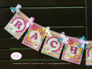 Spring Lambs Birthday Banner Party Small Sheep Girl Easter Pink Yellow Purple 1st 2nd 3rd 4th 5th 6th Boogie Bear Invitations Rachel Theme