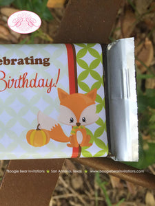 Woodland Animals Birthday Party Candy Bar Wraps Wrappers Fall Boy Girl Pumpkin Raccoon 1st 2nd 3rd 4th Boogie Bear Invitations Autumn Theme