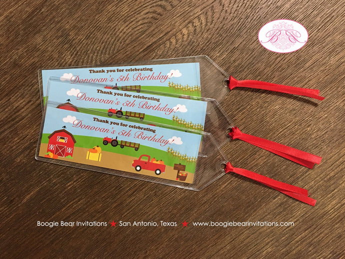 Farm Animals Birthday Party Bookmarks Favor Girl Boy Red Barn Country Gift 1st 2nd 3rd 4th 5th 6th 7th Boogie Bear Invitations Donovan Theme