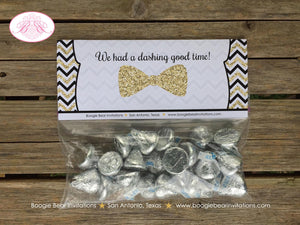 Mustache Baby Shower Treat Bag Toppers Folded Favor Black Gold Glitter Bash Bow Tie Chevron Boy Tag 1st Boogie Bear Invitations Harley Theme